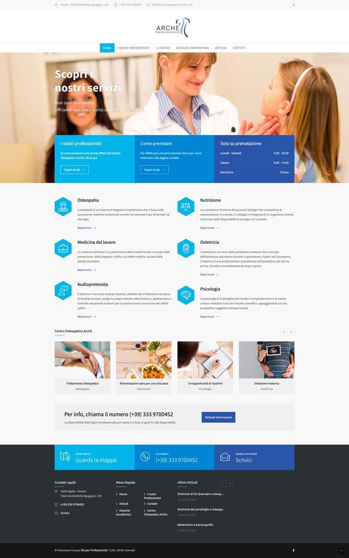 Sito internet per centro medico